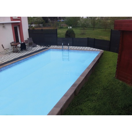 Piscine b ton rectangulaire haute naturalis 3 7 50x3 for Piscine demontable rectangulaire