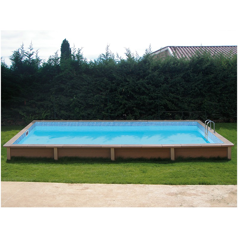 Piscine b ton rectangulaire naturalis 2 6 09x3 24x1 28m for Destockage piscine bois
