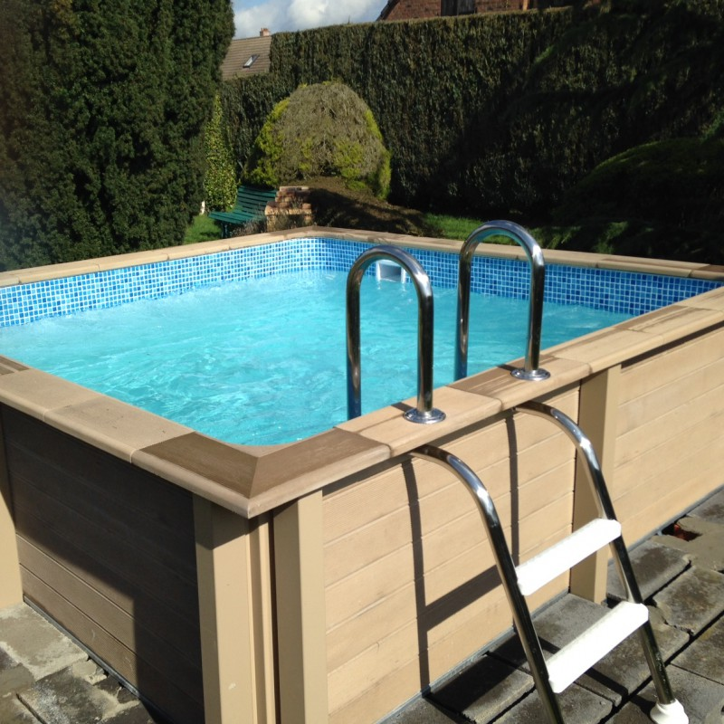 Piscine b ton carr e naturalis 3 24x3 24x1 28m for Piscine carree semi enterree