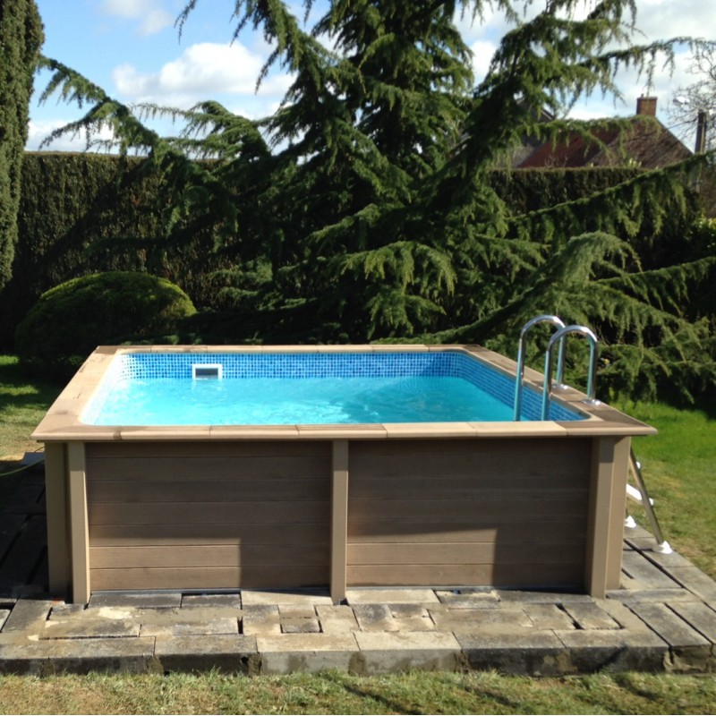 Piscine b ton carr e naturalis 3 24x3 24x1 28m for Piscine en kit beton
