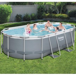 Piscine hors sol tubulaire ovale Power Steel 427x250cm - Bestway