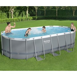Piscine hors sol tubulaire ovale Power Steel 549x274cm - Bestway